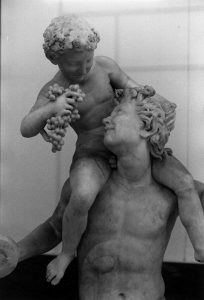 Photograph of a Grecian statue of Dionysus riding a Satyr taken by Haiduc