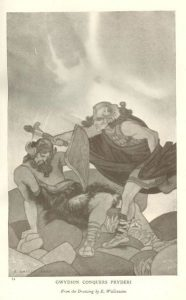 Gwydion Conquers Pydreri by Edward Wallcousins
