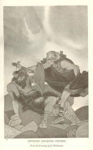 Gwydion Conquers Pydreri by Edward Wallcousins