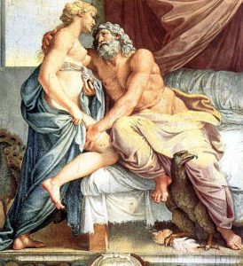 Juno and Jupiter together, by Annibale Carracci