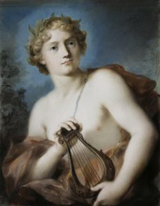 Apollo as drawn by Rosalba Carriera [Public domain], via Wikimedia Commons