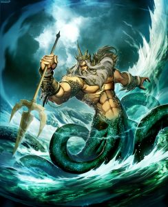 Poseidon, God of the Sea by Genzoman