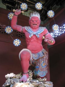 The god of thunder, Nitenmon Gate, Taiyuin-byo Shrine Photograph by Michael Reeve
