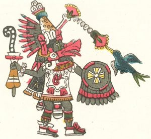 Quetzalcoatl, as depicted in the 16th century Codex Magliabechiano .