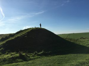 A photograph by Andy Lamb showing the sheer scale of the mounds